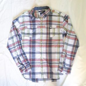 Multi-Colored Button Down Long Sleeve